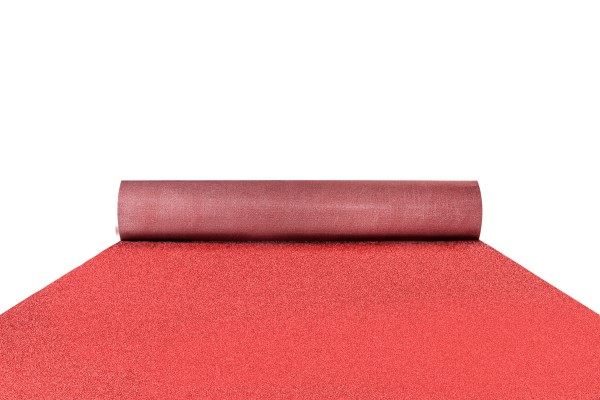 Glitter carpet runner in crimson red