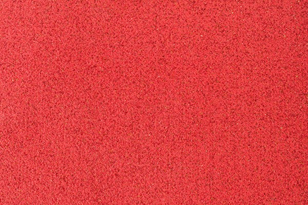 Glitter carpet swatch in crimson red
