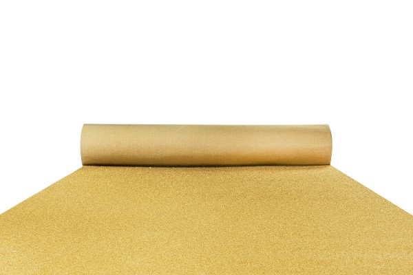 Glitter ochre gold carpet runner