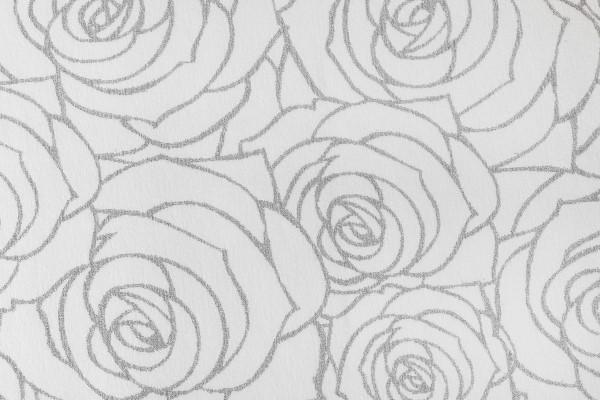 Prestige Roses 4 pattern carpet swatch (silver sparkles on grey background)