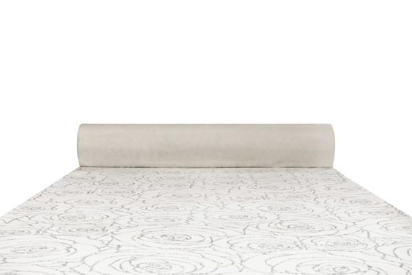Prestige Roses 6 pattern carpet runner (silver sparkles on ivory white background)