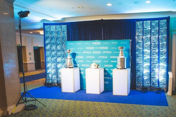 Blue Diamond Carpet at a sports press conference