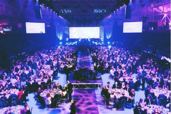 Purple Diamond Carpet is a sparkling focal point at a fundraiser gala