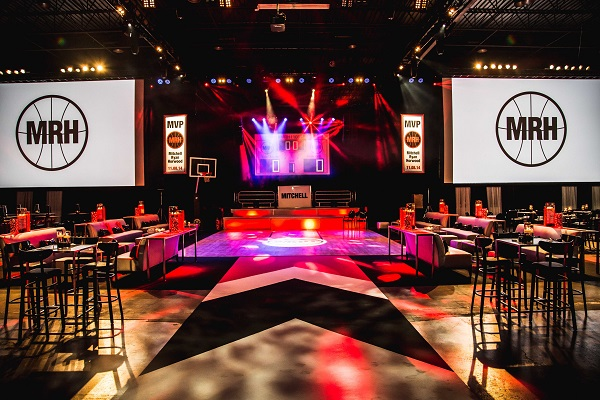 Chevron carpet for Raptors' bar mitzvah