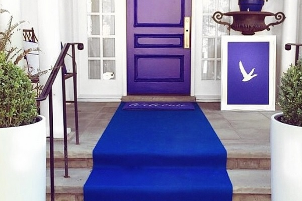 Royal Blue event carpet leading to a promotional event