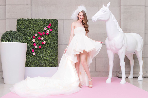 Soft pink event carpet  used in Miss Dior Wedluxe Shoot