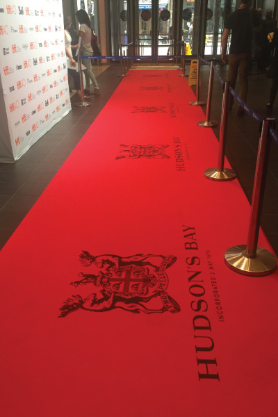 Logo printed red carpet