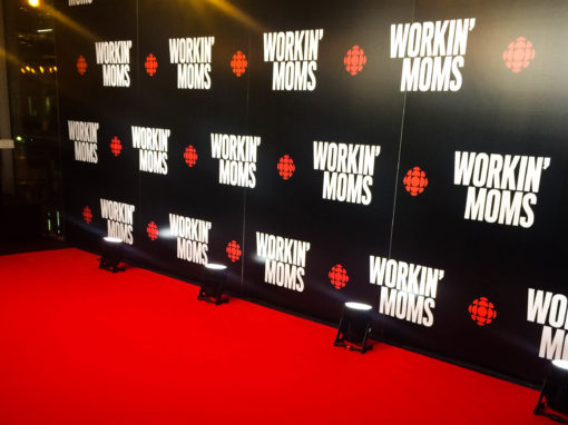 "Reznick Red Event Carpet and Custom Logo Print at CBC's VIP Screening of TV Show ""Workin' Moms"""