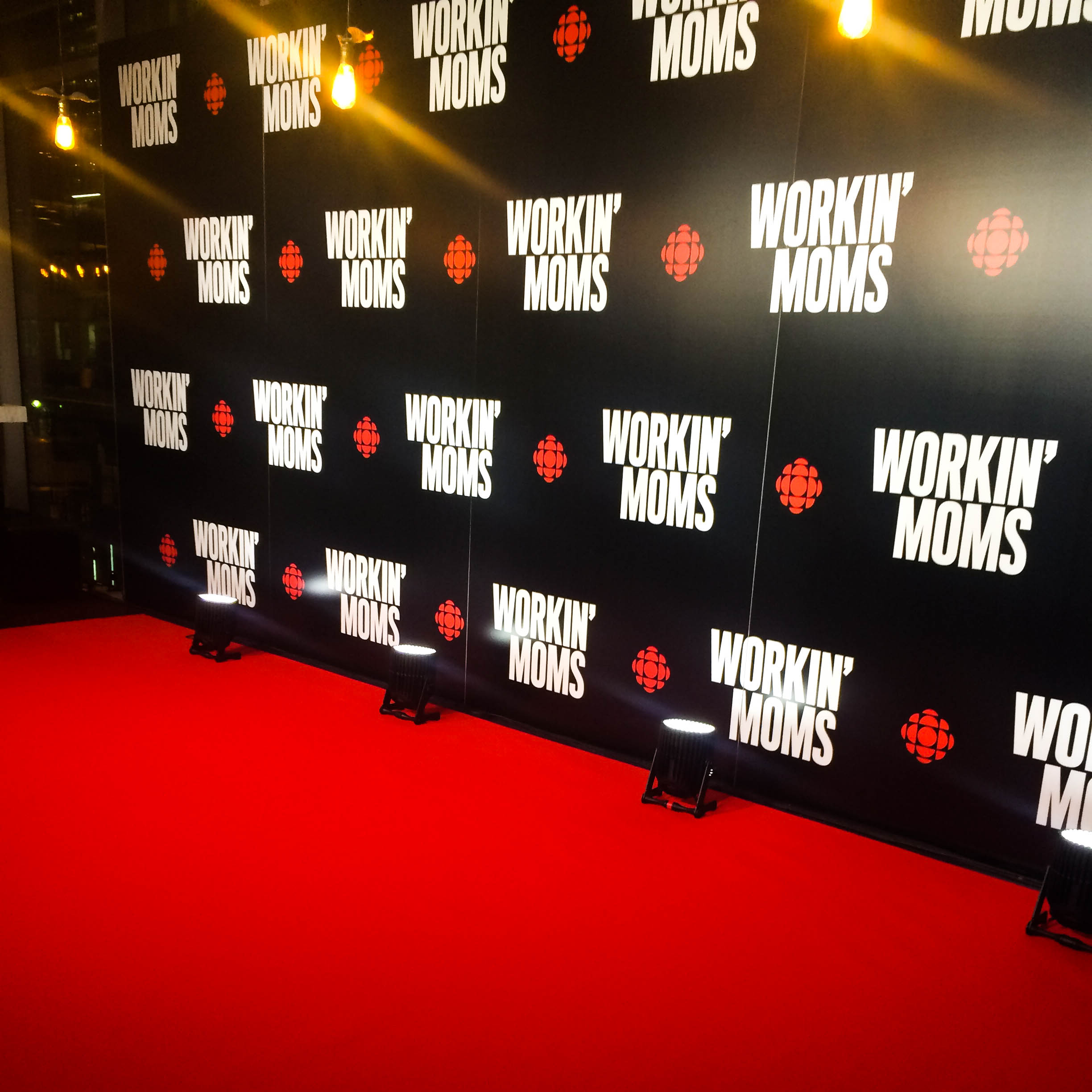 CBC's Workin Moms Screening on Reznick Red Event Carpet at TIFF Lightbox
