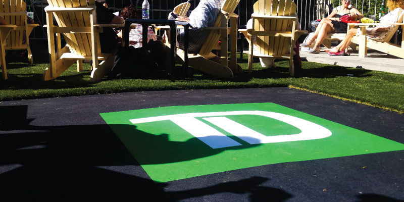 Event Turf with Custom Print Logo