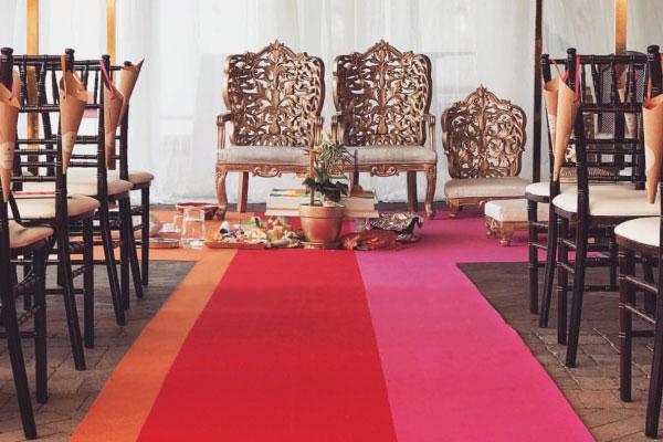 Custom Seamed Chessboard for Wedding