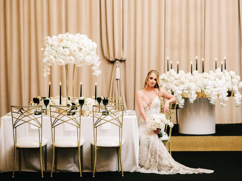 Black Tie Chic with Blissful Events Black Event Carpet and Diamond Gold