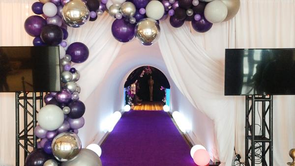 Flooring for Trade Show Noir Diamond Purple & Event Carpet Grey